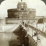 Bridge and Castle of St Angelo, Rome, Italy Photographic Print by  Underwood & Underwood