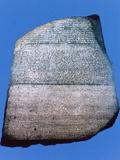 The Rosetta Stone, 196 Bc Fotografisk tryk