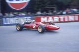 Ludovico Scarfiotti Driving a Ferrari, Belgian Gp, Spa-Francorchamps, 1967 Fotodruck