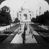 Taj Mahal, Agra, Uttar Pradesh, India Reproduction photographique par  Underwood & Underwood