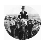 The Prince of Wales at the Grafton Hunt Races on Pet Dog, C1930s Giclee Print
