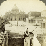 St Peter's Square and Basilica and the Vatican, Rome, Italy Photographic Print by  Underwood & Underwood