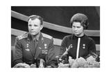 Yuri Gagarin and Valentina Tereshkova, Russian Cosmonauts, 1963 Giclee Print