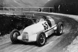 Rudolf Caracciola Driving Mercedes-Benz W25 Grand Prix Car, C1934-C1935 Photographic Print