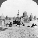 A 'Ship of the Desert' Passing Tombs of By-Gone Moslem Rulers, Cairo, Egypt, 1905 Photographic Print