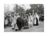 Funeral of Tsarina Maria Fyodorovna of Russia, Roskilde, Denmark, 19 October 1928 Giclee Print