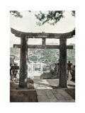 Stone Torii, Suwa Temple, Nagasaki, Japan, 1904 Giclee Print