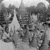 Shwedagon Pagoda, Rangoon, Burma, C1900s Photographic Print by  Underwood & Underwood