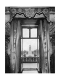 View of the Victoria Monument from Inside Buckingham Palace, London, 1935 Giclee Print