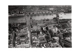 Aerial View of Westminster, London, from a Zeppelin, 1931 Giclee Print