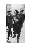 Mrs Pankhurst, Arrested Outside Buckingham Palace, London, 1914 Giclee Print