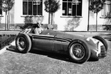 Fangio in Alfa Romeo, Prior to the San Remo Grand Prix, Italy, 1950 Photographic Print