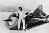 Art Arfons with 'Green Monster' Land Speed Record Car, C1966 Photographic Print