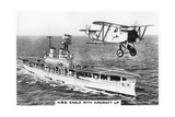 The Aircraft Carrier HMS 'Eagle' and a Fairey Flycatcher Aircraft Giclee Print