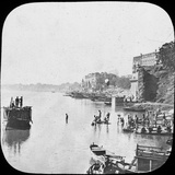 Bathing Ghat at Benares, India, Late 19th or Early 20th Century Photographic Print