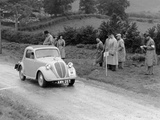 1937 Fiat 500 Coupe Competing in the Welsh Rally Photographic Print
