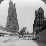 Gopuram, Sri Meenakshi Hindu Temple, Madurai, Tamil Nadu, India, C1900s Photographic Print by  Underwood & Underwood