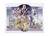 Images Relating to Winston Churchill Memorial Library, St Mary Aldermanbury, London, 1989 Giclee Print
