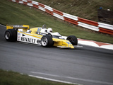 Rene Arnoux Racing a Renault Re20, British Grand Prix, Brands Hatch, 1980 Photographic Print