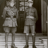 Captain Macdougall, Dso, and Cadet Mullin, Two Canadian Vcs, World War I, 1914-1918 Photographic Print