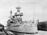 Us Navy Cruiser USS Northampton (Ca-2), Panama Canal, Panama, 1931 Photographic Print
