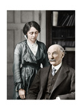 Thomas Hardy, English Poet, Novelist and Dramatist with His Second Wife, Florence, 1912-1928 Giclee Print