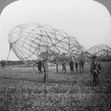 Zeppelin Shot Down Near Colchester, Essex, World War I, 1916 Photographic Print