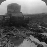Whippet Tank on a Muddy Battlefield, Morcourt, France, World War I, 1918 Photographic Print