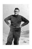 Ernest Shackleton, British Explorer, Antarctica, 1909 Giclee Print