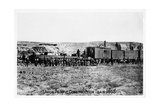 Construction Train on the Union Pacific Railroad, USA, 1868 Giclee Print