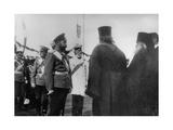 Tsar Nicholas II Talking to Religious Representatives, Moscow, Russia, 1912 Giclee Print