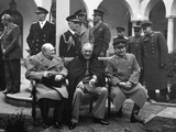 Conference of the Allied Leaders, Yalta, Crimea, USSR, February 1945 Photographic Print