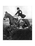 The Prince of Wales Taking a Fence in the Bridge of Guards Challenge Cup Race, C1930S Giclee Print