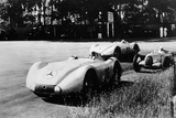 Mercedes Streamliner Cars Competing in the Avusrennen, Berlin, 1937 Photographic Print