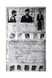 Baku Police Form of the Political Criminal J Jugashvili (Stali), 1910 Giclee Print