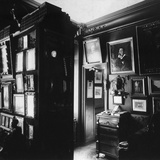 Interior of the Museum of the Author and Historian Alexander Onegin in Paris, 1920s Photographic Print