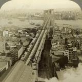 Brooklyn Bridge, New York, USA Photographic Print by  Underwood & Underwood