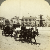 The Obelisk and Fountain, Place De La Concorde, Paris, France, 19th Century Photographic Print