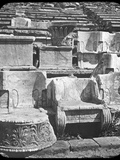 Throne of the Priest, Temple of Dionysus, Athens, Greece, Late 19th or Early 20th Century Photographic Print