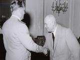 Yugoslav President Josip Broz Tito Shaking Hands with Soviet Leader Nikita Khrushchev, 1955 Photographic Print