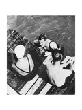 The Prince of Wales with Friends on a Raft, the Riviera, C1930S Giclee Print