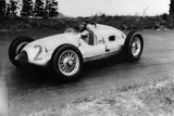 Tazio Nuvolari Driving a 3 Litre Auto Union in a Grand Prix, 1939 Photographic Print
