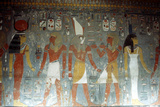 Pharaoh Horemheb with the Goddess Isis and the God Horus, Ancient Egyptian, 14th Century Bc Photographic Print