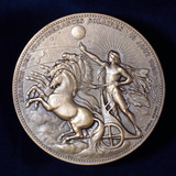 Medal Commemorating Pierre Janssen and Norman Lockyer, French and English Astronomers, 1868 Photographic Print