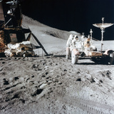 James Irwin (1930-199) with the Lunar Roving Vehicle During Apollo 15, 1971 Photographic Print