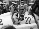 Manfred Von Brauchitsch in a Mercedes-Benz, French Grand Prix, Montlhéry, 1934 Photographic Print