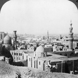 Cairo, Looking South West, across the City to the Pyramids, Egypt, 1905 Photographic Print