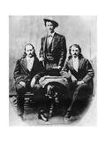 Wild Bill' Hickok, 'Texas Jack' Omohundro and 'Buffalo Bill' Cody, C1870S Reproduction procédé giclée