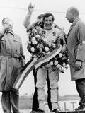 Jackie Stewart, Celebrating Victory at the Dutch Grand Prix, Zandvoort, 1968 Photographic Print
