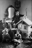 Russian Author Alexander Kuprin at Home with His Family, Gatchina, Russia, Early 20th Century Photographic Print